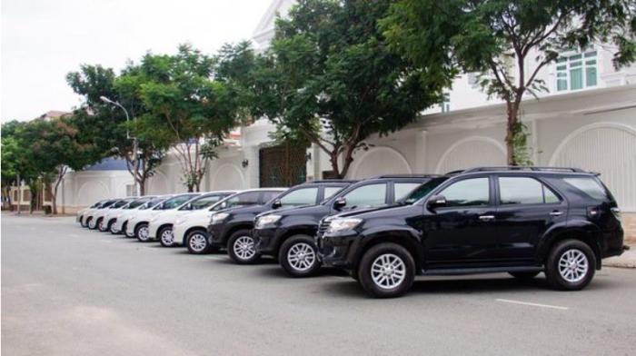 Dàn xe của công ty Anh Minh