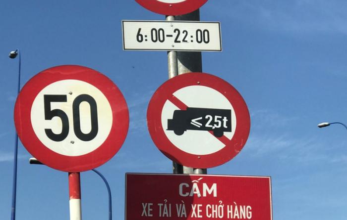giờ cấm xe tải vào TPHCM