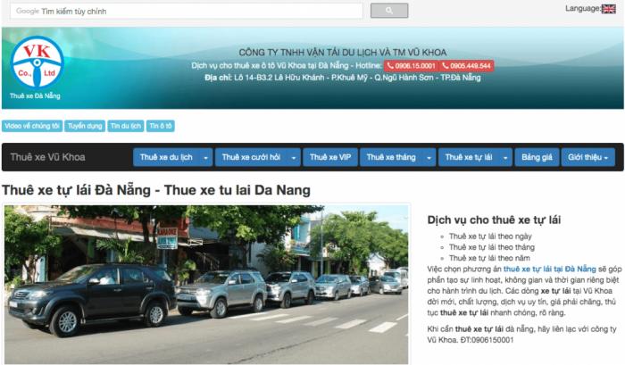 Cho thuê xe tự lái Đà Nẵng – Vũ Khoa