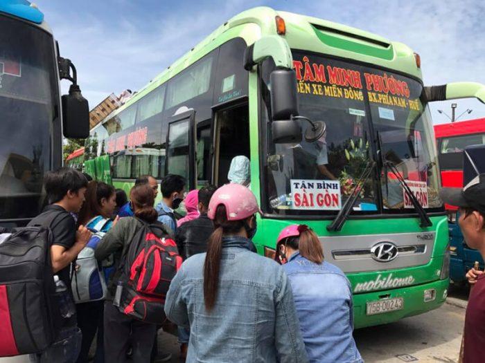 Tâm Minh Phương- xe Sài Gòn đi Huế
